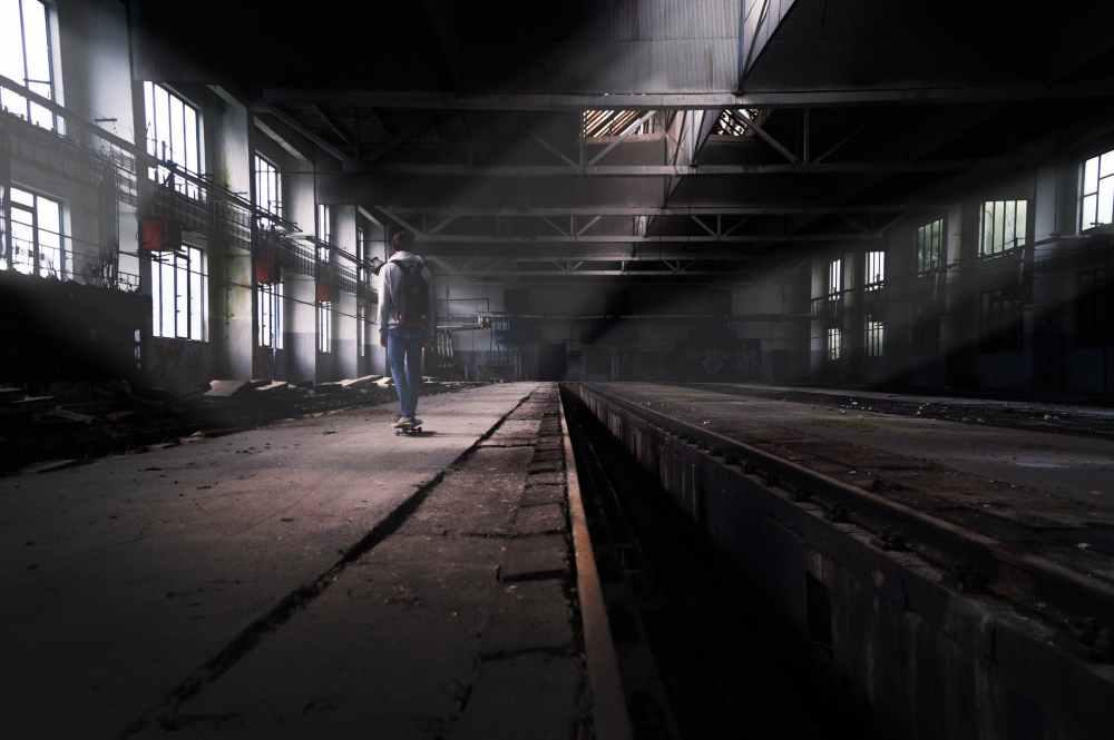 abandoned boy skate skater